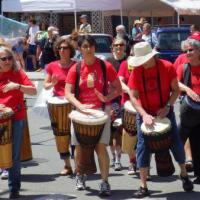 Drummers in the RiverFest Parade 2014